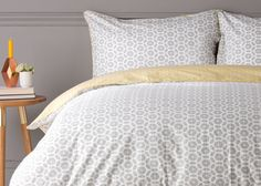 Trio 100% Cotton Printed Bed Set, Elephant Grey