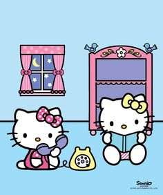 tinkevidia:   Sanrio: Hello Kitty & Mimmy:) at RESPECT THE KITTY