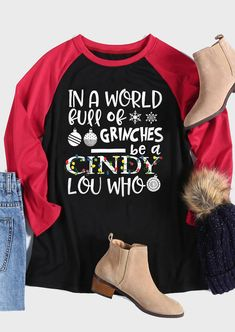 Grinches Be A Cindy Lou Who T-Shirt Tee - Black the best Online Clothing Shopping Boutiques, get the latest fashion clothing online # Grinch Christmas, Christmas Snowflakes, Ugly Christmas Sweater, Christmas Outfits, Christmas Crafts, Christmas Ideas, Cute Christmas Shirts, Funny Christmas, Christmas Stuff
