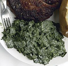 Classic Creamed Spinach    Hopefully after we get a garden in this will be on the table. :)