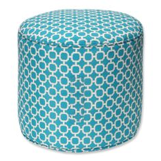 Hockley Teal Weather Resistant Bean Bag Ottoman | Overstock.com Shopping - Big Discounts on Pillow Perfect Outdoor Cushions & Pillows