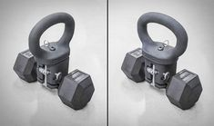 KettleClamp - Turns Any Dumbbell to a Kettlebell - Rogue Fitness Kettlebell Routines, Kettlebell Set, Kettlebell Training, Training Workouts, Adjustable Kettlebell, Diy Home Gym, Rogue Fitness, Garage Gym, Dumbbell Workout