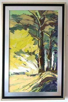 V novom, výnimočnom dvojitom rámovani :-) Zelenym lesom, olej na dreve 70 x 50 cm, www.turzak-art.sk, #nitra  #obrazynitra #turzakart Painting, Art, Craft Art, Paintings, Kunst, Gcse Art, Draw, Drawings, Art Education Resources