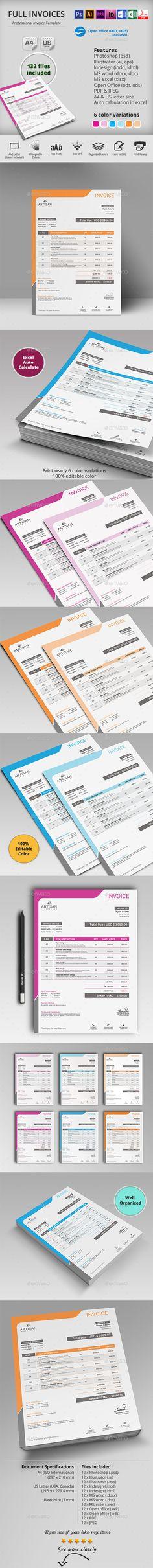 Invoice Invoice design, Letterhead and Type design - invoice style