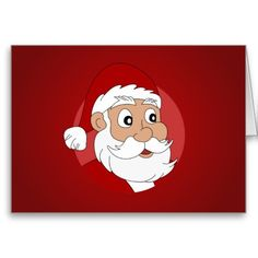 Santa Clause Cartoon Cards