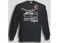 Pullover Tiger 506  Pullover Panzerkampfwagen VI SD.KFZ 181 Tiger, 506. sPzAbt. Der Tiger Panzer Pullover ist in den Größen S-XXL erhältlich. Auf dem Pullover ist der berühmte Tiger Panzer, sowie das Abzeichen der 506. sPzAbt abgebildet. / mehr Infos auf: www.Guntia-Militaria-Shop.de