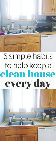 These 5 simple habits will help you keep a clean house whether you want to downsize, declutter or just clean less. A clean house is easy to have.