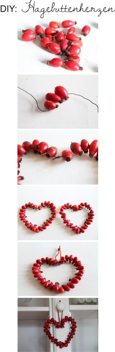 DIY: Hagebutten Herzen, Rose Hip Hearts