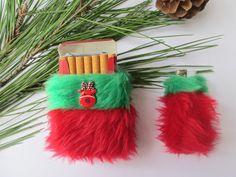 Christmas Cigarette Case Set Cute Christmas Smoker by Kerenika