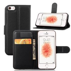 Luxury PU Leather Celular For Apple iPhone 5C Case Flip Cover Stand Wallet +Card Holder Holster Mobile Phone Bags Accessories