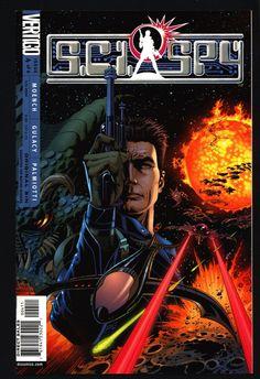 "SCI-SPY #4 Doug Moench,Paul Gulacy, ""James Bond in Outer Space"", Science Fiction, Espionage,Illustrated Vertigo DC Comics"