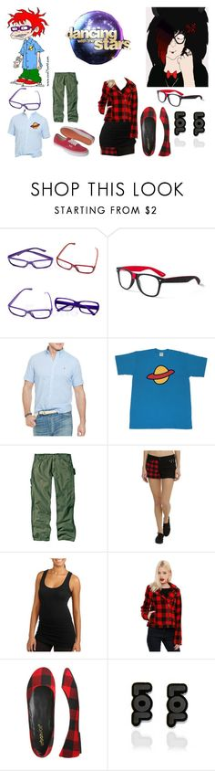 """""""Dancing with the Stars (Introduction)- Chuckie/Mars"""" by brainyxbat ❤ liked on Polyvore featuring claire's, Polo Ralph Lauren, Dickies, Vans, Hot Topic, Wet Seal and Punky Pins"""