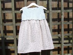 Baby girl's dress knitted and sewn £10.00