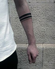 Best Tattoo Trends - Mens Two Black Band With Thin Solid Line Tattoo On Forearm. tattoos Tattoo Trends – Mens Two Black Band With Thin Solid Line Tattoo On Forearm… Thin Tattoo, Black Band Tattoo, Band Tattoos For Men, Forearm Band Tattoos, Tattoo Band, Body Art Tattoos, Sleeve Tattoos, Tattoos For Women, Line Tattoo Arm