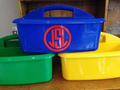 PERSONALIZED Shower Caddy Perfect for by MonogramCollection, $15.95 Great caddy for your dorm room