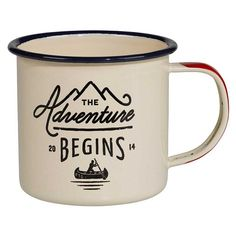 A perfect mug for camping out on the trail or in your own backyard or wherever your adventure begins!  This steel mug with an  enamel finish is a durable way to serve up any drink, hot or cold.   Capactiy 10 fl oz.