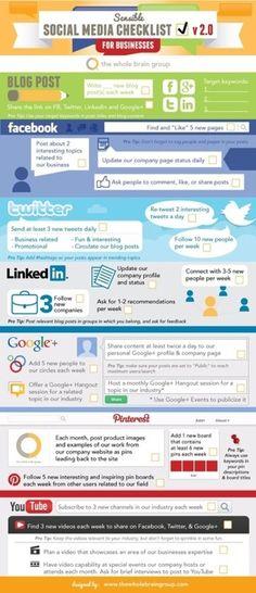 Social Media Task List