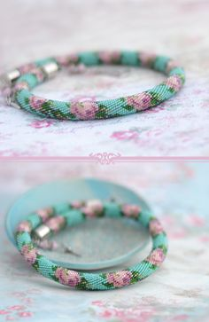 Bead crochet necklace Shabby chic style jewelry Beadwork roses Victorian choker Bridal necklace
