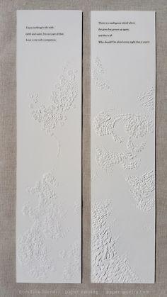 «Rumi Remixed» Series - #8 & #2  | domitilla biondi paper carving | paper-poetry.com