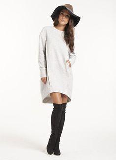 Au Lait | Premium Nursing Dresses | The City Sweatshirt Dress | www.aulaitshop.com