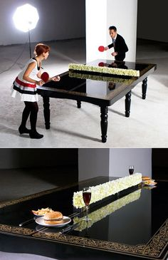 ping pong dining room table. yup, my future mansion is having this.