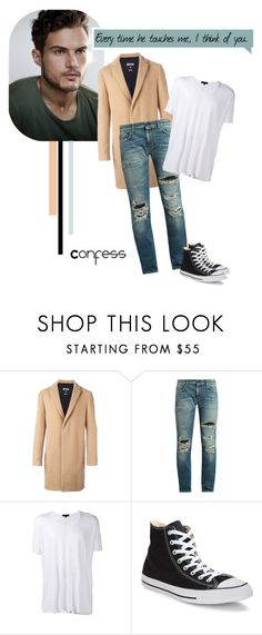 """""""Owen Gentry"""" by closertocris ❤ liked on Polyvore featuring MSGM, Yves Saint Laurent, UNCONDITIONAL, Converse, men's fashion and menswear"""