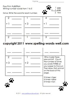 Worksheets On Periodic Table Excel Tracing And Writing Number Words   Writing Numbers Number  Accounting Worksheet Example Pdf with Grade 3 Maths Worksheets Excel Paw Print Addition Worksheet Provides Fun Practice For First Graders With  Addition And Writing Number Words Multiplication Tables Worksheet Pdf