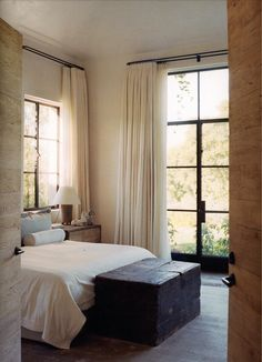 Neutral palette in a soothing bedroom.