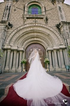Awesome bride in front of church!