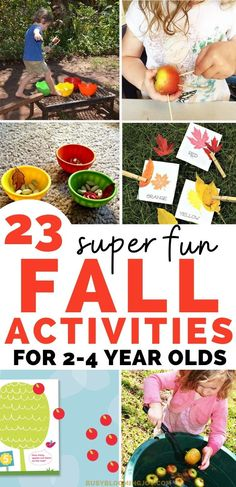 Outdoor Activities For Toddlers, Crafts For 2 Year Olds, Fall Preschool Activities, Apple Activities, Activities For 2 Year Olds, Toddler Learning Activities, Toddler Preschool, Halloween Activities, Indoor Activities