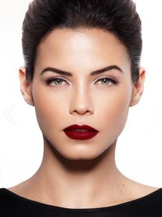 Love this look! #red #lip, great brows, lots of #lashes
