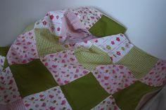 Babydecke grün/rosa  Vögelchen