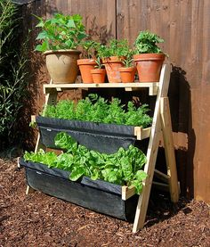 """Have you seen these """"bag"""" gardens? They're no joke for small spaces."""