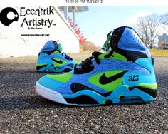 3a5a6a5614f Nike Air Force 180 Mid Custom From Ecentrik Artistry - Sole Redemption