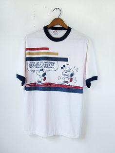 Vintage Snoopy Tshirt Joe Cool