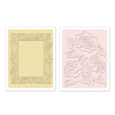 Sizzix - Textured Impressions - Embossing Folders - Roses and Frame Set