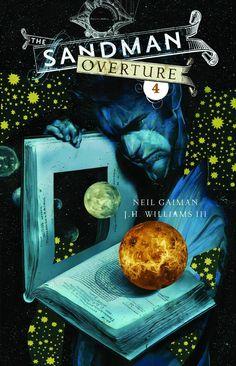 Dave McKean's glorious cover art for Neil Gaiman's Sandman Overture #4