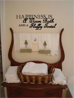 Exceptionnel Image Detail For   Happiness Is...Vinyl Wall Quotes In The Bathroom Picture