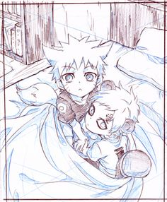 Gosh I love this picture of little Naruto and cute Gaara *-*