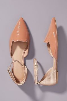 Benson D'Orsay Flats by Anthropologie in Pink Size: 11 W, Beach Wedding Shoes, Fall Flats, Dusty Rose, Ankle Strap, Fashion Shoes, Anthropologie, Pairs, Elegant, Chic