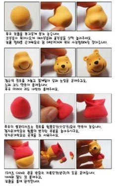 Crear a Winnie Poh con arcilla   http://123manualidades.com/crear-a-winnie-poh-con-arcilla/343/