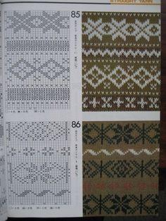 "Photo from album ""Книга узоров"" on Yandex. Fair Isle Knitting Patterns, Knitting Machine Patterns, Baby Cardigan Knitting Pattern, Knitting Stiches, Fair Isle Pattern, Baby Hats Knitting, Knitting Charts, Knitting Designs, Drops Patterns"