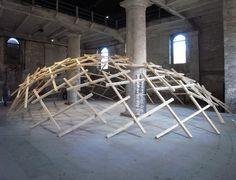 the 'decay of a dome' installation by wang shu, vito bertin, lu wen yu of amateur architecture studio from china