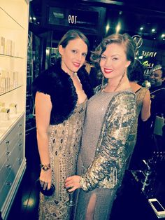Have Shoes, Will Party: Designer Gwendolynne Burkin with Kyra Pybus at the Vivian Ashworth Hair and Makeup Salon Launch