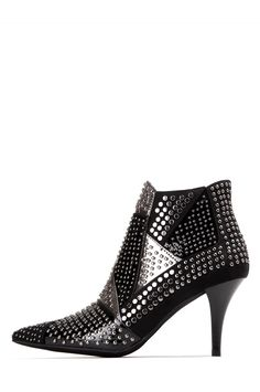 Jeffrey Campbell Shoes DOLENZ STUD MUFFIN in Black Pewter Combo