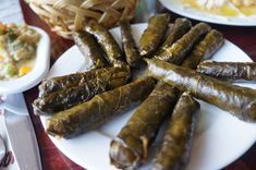 Dolma-Grape vine leaves are stuffed with a combination of meat and rice, or sometimes even lentils.