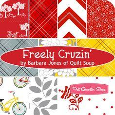 Freely Cruzin' Fat Quarter Bundle Barbara Jones of Quilt Soup for Henry Glass Fabrics - Fat Quarter Shop