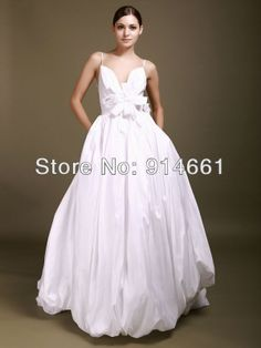 fashionable deep-V backless wedding gown with 3D flower bridal dress for beautiful bridals $178.00