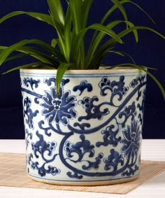 blue and white planters - Google Search
