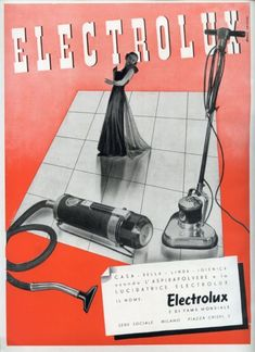 Franco Grignani, Ad for Electrolux, 1938 [from AIAP / CDPG Centro di Documentazione sul Progetto Grafico] Electrolux Vacuum, Logo Sketches, Photo Logo, Ol Days, Good Ol, Vacuums, Vintage Ads, Vacuum Cleaners, Cleaning